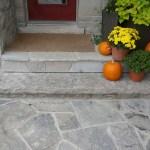 charcoal limestone front entrance walk random flagstone