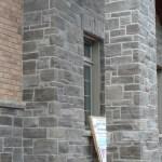 charcoal limestone tigerstripe ledgerock building pillar detail