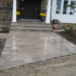 charcoal square cut flag entrance