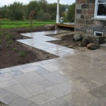 charcoal square cut flag walkway entrance