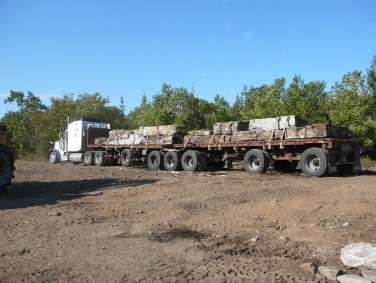 colonial quarry loading truck in quarry