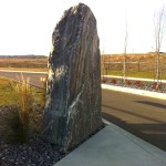 elite blue granite pillar accent boulder