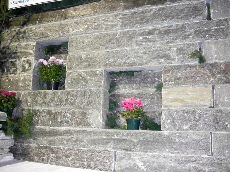 elite blue granite sawn drystack wallstone