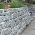 elite blue granite tumbled wall