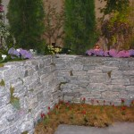 elite blue granite tumbled wallstone