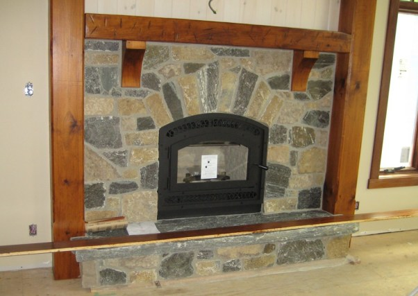 fireplace harvest gold limestone elite blue granite blend