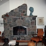 fireplace rustic