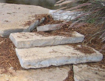 Harvest Gold Limestone Guillotined Steps