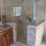 harvest gold limestone tumbled blend shower