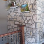 harvest gold limestone tumbled blend wall indoor