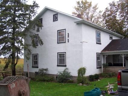 Stucco House Before Restoration