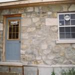 limestone garage side