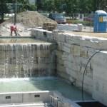 limestone waterfall side wall