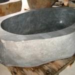 natural stone tub grey