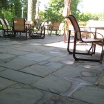 patio bluestone square cut flag