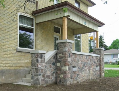 Fieldstone Porch After Restoration