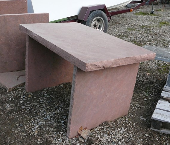 rose sandstone squared table