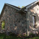 split fieldstone random houseside