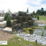 waterfall side veiw weatheredge limestone