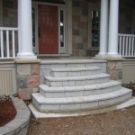 weatheredge limestone bush hammered flag steps
