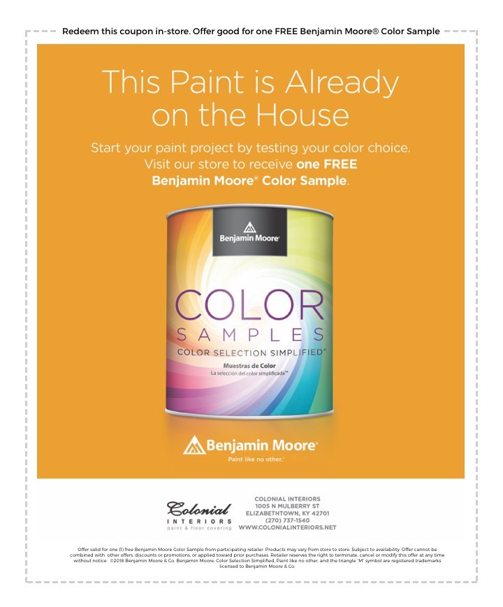 benjamin moore paint coupon in elizabethtown ky on benjamin moore coupon id=93992