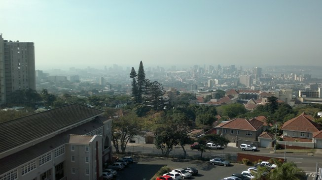 Pollution over Durban