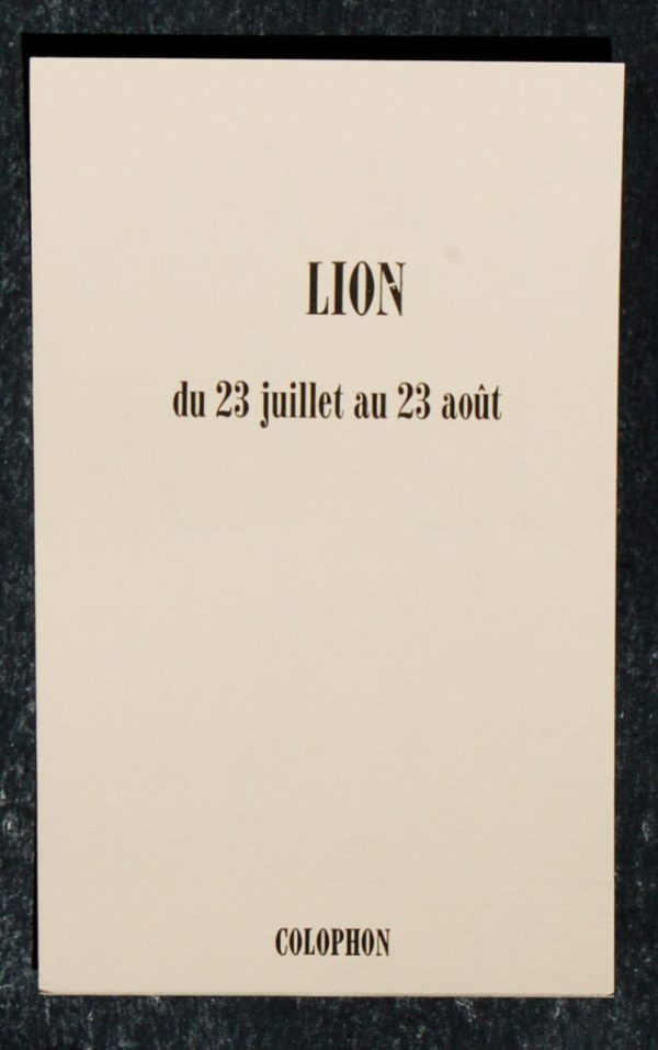 lion signe astrologique zodiaque verso