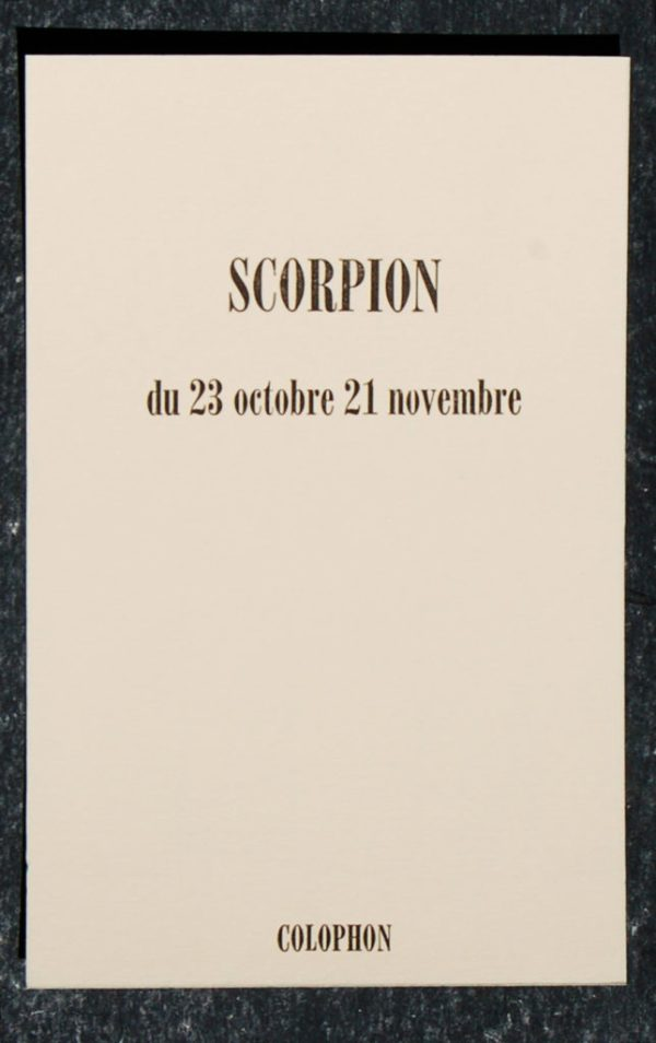 scorpion signe astrologique zodiaque verso