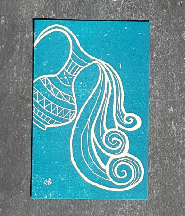 verseau signe astrologique zodiaque recto