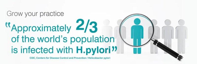 helicobacter pylori, breath test, test del respiro, screening, tumore dello stomaco, CDC