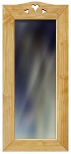 Miroir bois 3 cœurs H120