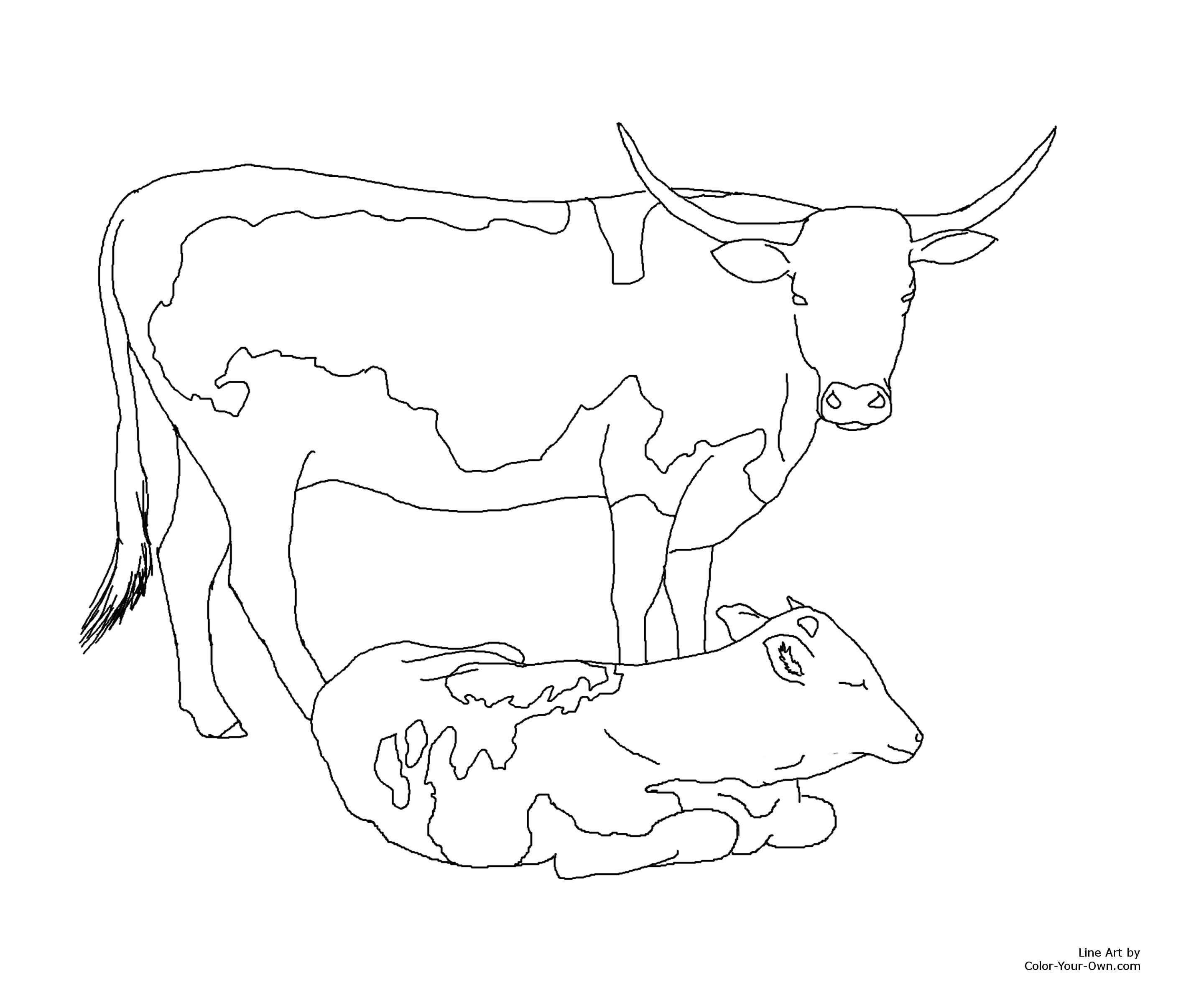 Cow Coloring Book Pages Coloring Pages