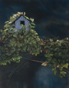 Guest House SOLD (14x11 dry pastel). always open.
