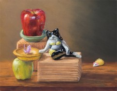 Learn Honor Create Play $925 (11x14 dry pastel). balancing life.
