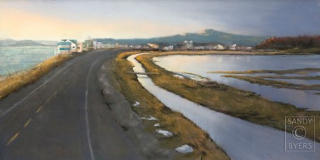 West Beach Road $1125 (12x24 dry pastel). a double dose of water.
