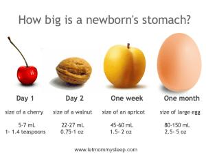 http://letmommysleep.com/blog/2014/11/06/how-big-newborns-stomach