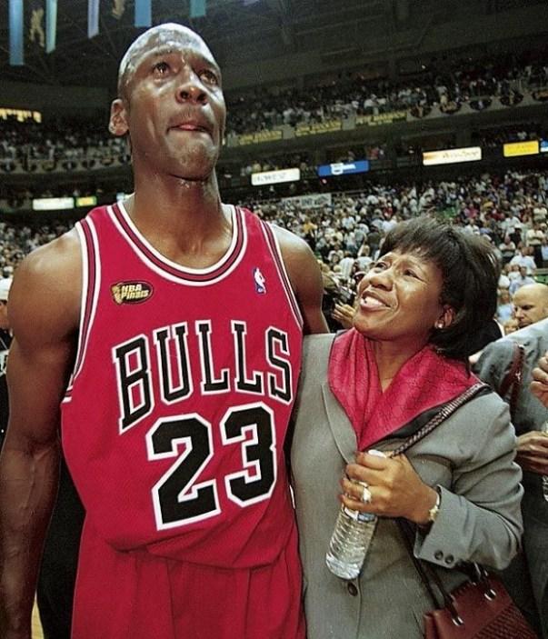 Michael Jordan and his mom, courtesy of successstories.com