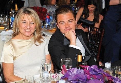 Leonardo DiCaprio and mom, courtesy of GQ.com