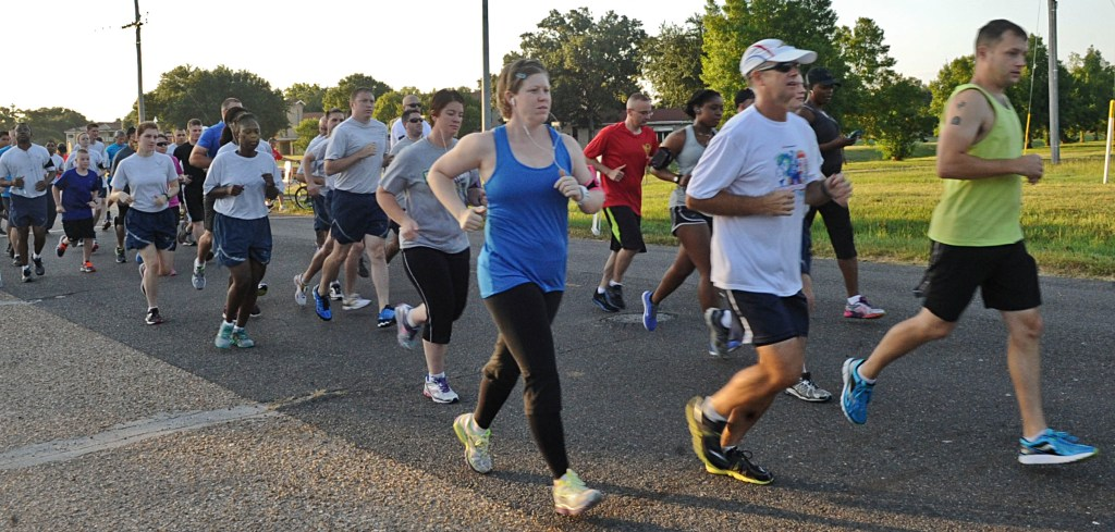 people running race for charity