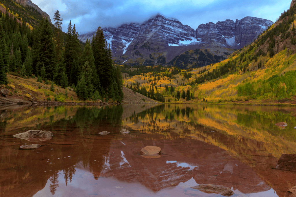 maroon bells in the fall in aspen, colorado