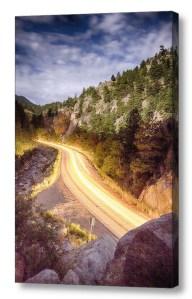 Boulder-Canyon-Beams-Of-Light-Canvas-Wall-Art-Print