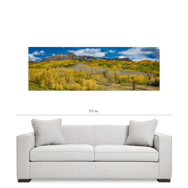 Colorado Autumn Panorama Nature Canvas Art
