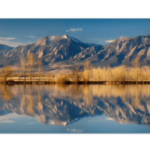 Flatirons Colorado Reflections Panorama Art Prints