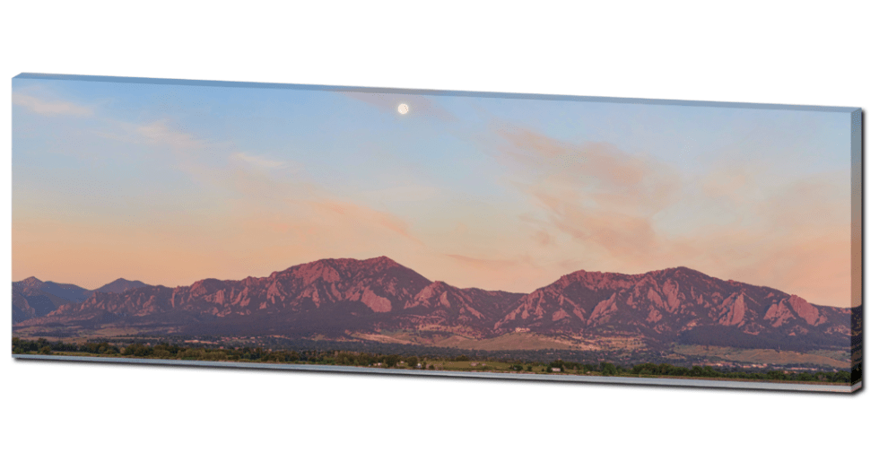 Boulder Colorado Panorama canvas wraps