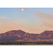 Moon and Flations Boulder Colorado Fine Art Photography