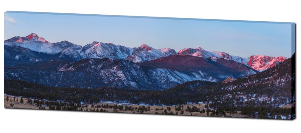 Panorama rocky mountains