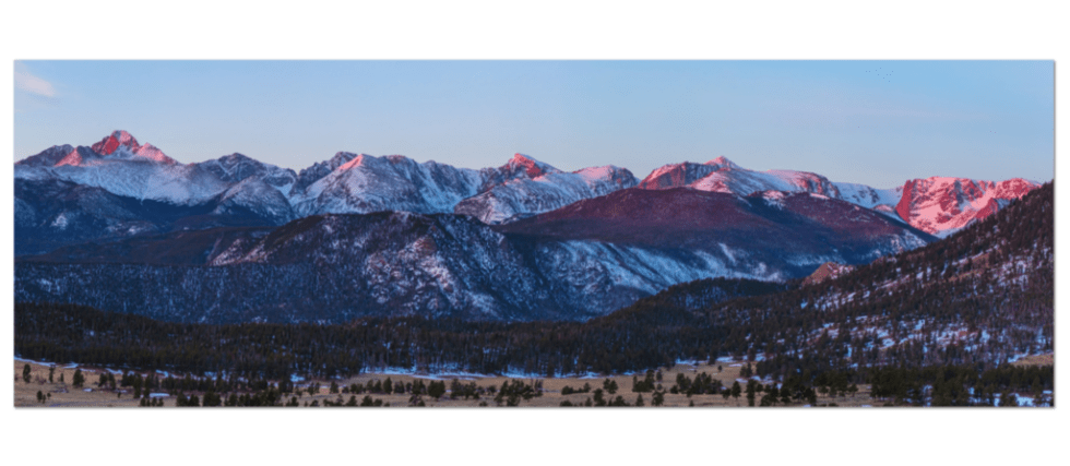 Rocky Mountain National Park Panorama View