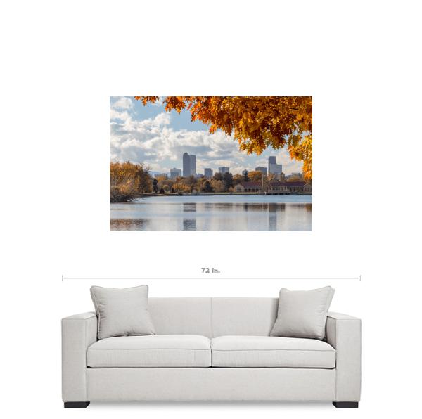 Denver Skyline Canvas Art