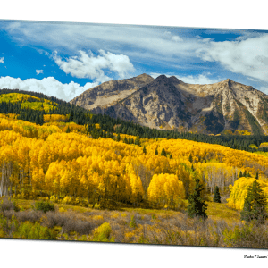 Colorado Rocky Mountain Fall Foliage  32″x48″x1.25″ Premium Canvas Gallery Art Wrap