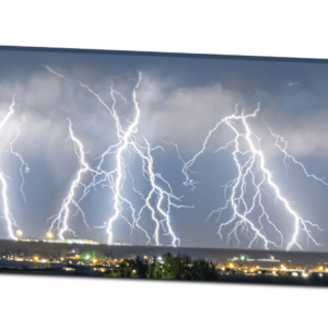 Severe Thunderstorm Panorama 20″x60″x1.25″ Premium Canvas Gallery Wrap Art
